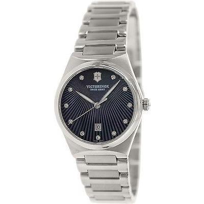 【初売り】 腕時計 ヴィクトリノックススイスアーミー Victorinox スイス Army レディース Victoria ダイヤモンド 241536 メタリック シルバー ステンレス-, シメマチ e214e64a