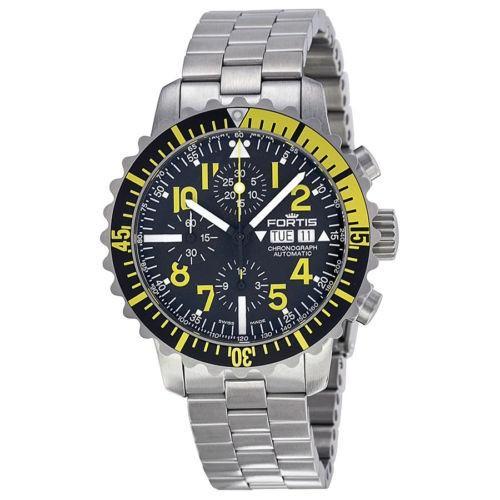 激安超安値 Fortis 6712414M Marinemaster ブラック ダイヤル メンズ ステンレス スチール メンズ Fortis 腕時計 6712414M, 京のくすり屋:55b05b75 --- odvoz-vyklizeni.cz