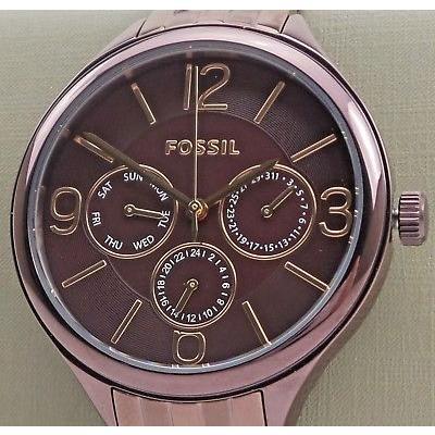 開店祝い 腕時計 BQ3288 フォッシル Fossil 腕時計 BQ3288 Ladies Multi-Function Dial Plum Purple Plum Stainless Watch, PotaricoPublicc:c6d1503d --- airmodconsu.dominiotemporario.com