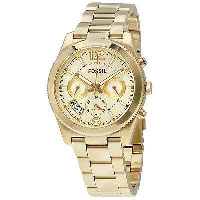 激安/新作 腕時計 ウォッチ フォッシル Fossil Perfect Boyフレンド ゴールド ダイヤル レディース マルチファンクション 腕時計 ES3884, タイヤワールド館ベスト 96601c68