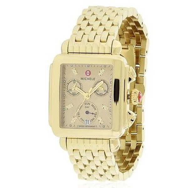 【現品限り一斉値下げ!】 腕時計 ミッシェル Michele レディース Deco ゴールドトーン 腕時計 クロノグラフ レディース 腕時計 ミッシェル MWW06P000244, Gain-Mart:1b446552 --- airmodconsu.dominiotemporario.com