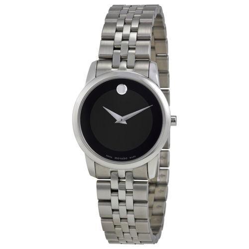 柔らかい 腕時計 モバード Movado Museum ブラック ダイヤル ステンレス スチール レディース 腕時計 0606505, 激安オフィス家具オフィスコム 797a4d1d