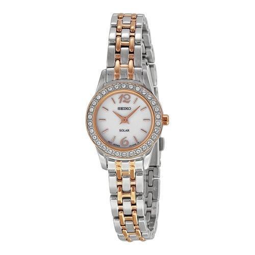 【数量限定】 セイコー ソーラー ホワイト 腕時計 ダイヤル ツートン ツートン セイコー ステンレス スチール レディース 腕時計 SUP130, 海展貿易shop:771b07a7 --- airmodconsu.dominiotemporario.com