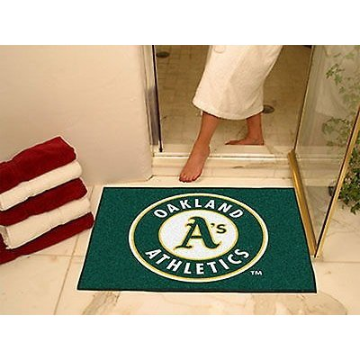 野球 MLB アメリカン ベースボール ウェア ユニフォーム ファンマット Oakland Athletics Bath Mat Shower Area Rug