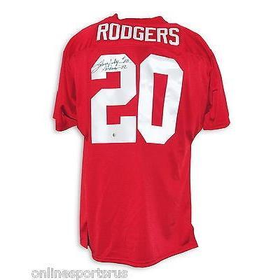 春のコレクション カレッジ スポーツ ユニフォーム NCAA アスレティック ニット Johnny Rodgers Autographed Throwback Jersey