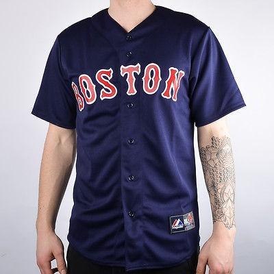 特価ブランド マジェスティック アスレティック Tシャツ シャツ トップス 半袖 長袖 Majestic MLB Boston レッド Sox Replica Baseball Jersey メンズ M67RSXBNA00 obsidian, ジーンズプラザ摩耶葛西店 21acdb30