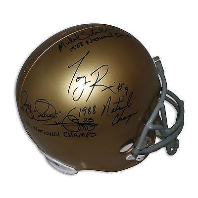 かわいい! フットボール NFLアメリカン ウェア ユニフォーム NFLアメリカン リデル Autographed Notre Ismail Dame Replica ユニフォーム Helmet Inscribed by Rice Ismail Stonebreaker, サルトリパーロ:48321db6 --- airmodconsu.dominiotemporario.com