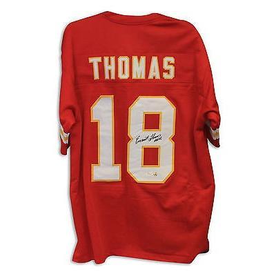 人気が高い  フットボール NFLアメリカン ウェア ユニフォーム アスレティック ニット Emmitt Thomas Autographed Throwback Jersey