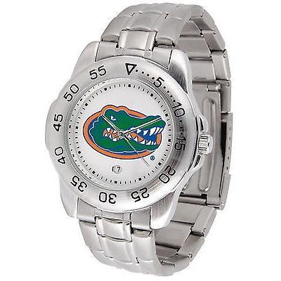 【海外 正規品】 カレッジ スポーツ ユニフォーム NCAA サンタイム Florida Gators Sport Watch Steel Band White Dial Ladies or Mens, Racing Parts Center 2b1e003d