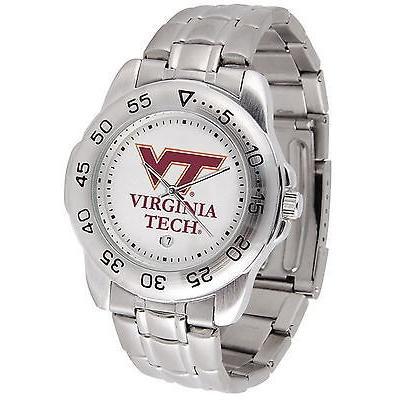 新作人気モデル カレッジ スポーツ ユニフォーム NCAA サンタイム Virginia Tech Hokies Sport Watch Steel Band White Dial Ladies or Mens, アップル商店 70ccb0ed