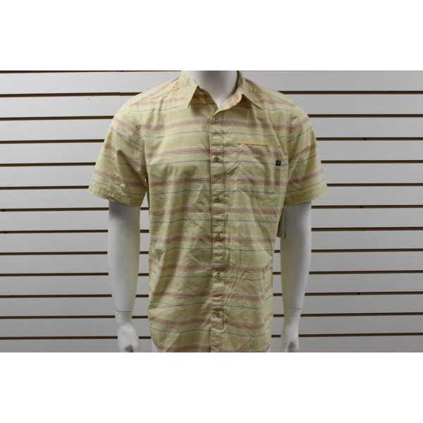 アスレチック ウェア マーモット メンズ Marmot Fulton Button-Up 半袖 ストライプ Shirt Alpenglow 52700