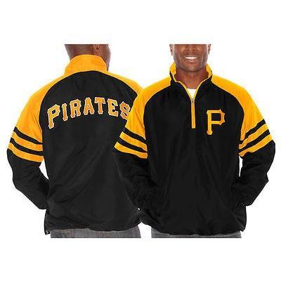 海外バイヤーおすすめ アメリカ USA メジャー リーグ 全米 野球 MLB Pittsburgh Pirates ブラック Come Back 1/4 ジップ ジャケット