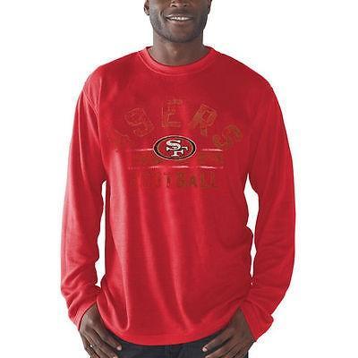 海外バイヤーおすすめ アメリカ USA カレッジ 全米 リーグ フットボール NFL San Francisco 49ers Scarlet フリー Safety 長袖 Thermal Tシャツ