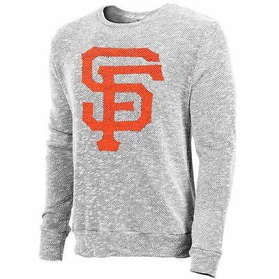海外バイヤーおすすめ アメリカ USA メジャー リーグ 全米 野球 MLB Majestic Threads San Francisco Giants グレー Tri-Yarn 長袖 Crew Tシャツ