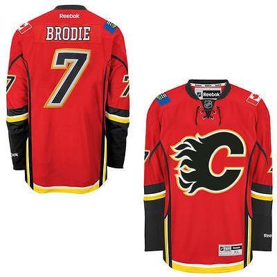 大きな取引 リーボック アメリカ USA カレッジ 全米 リーグ ホッケー NHL Reebok TJ Brodie Calgary Flames メンズ レッド Home Premier ジャージ, 【期間限定!最安値挑戦】 4b5b9243