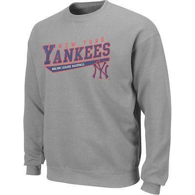 マジェスティック アメリカ USA メジャー リーグ 全米 野球 MLB Majestic New York Yankees Heather グレー ビッグ テール Crewneck スゥエットhirt