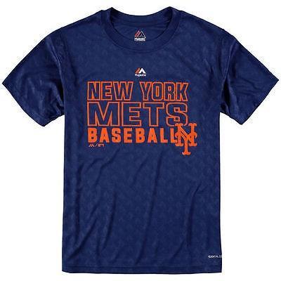 マジェスティック アメリカ USA メジャー リーグ 全米 野球 MLB Majestic New York Mets ユース ロイヤル Geo Plex Sublimated Cool Base Tシャツ