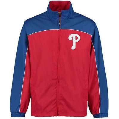 海外バイヤーおすすめ アメリカ USA メジャー リーグ 全米 野球 MLB G-III スポーツ by Carl Banks Philadelphia Phillies レッド Blitz フルジップ ジャケット