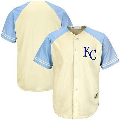 アメリカ USA メジャー リーグ 全米 野球 MLB Kansas City ロイヤルs クリーム/ロイヤル Cool Base アイボリー ファッション チーム ジャージ