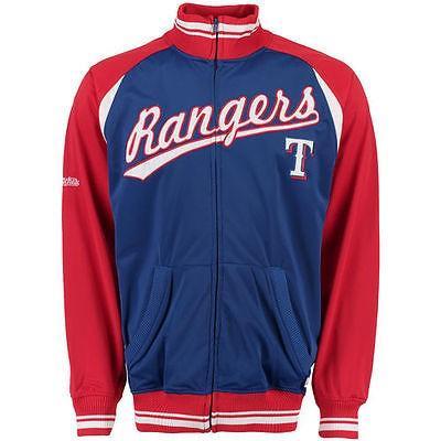 アンブランデッド アメリカ USA メジャー リーグ 全米 野球 MLB Texas Rangers ロイヤル/レッド カラーblock フルジップ トラック ジャケット