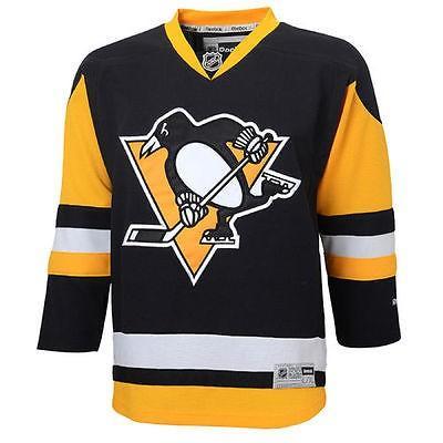 リーボック アメリカ USA カレッジ 全米 リーグ ホッケー NHL Reebok Pittsburgh ペンギンs ユース ブラック Premier Alternate ジャージ