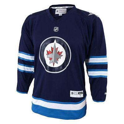 経典 リーボック アメリカ ジャージ アメリカ Replica USA カレッジ 全米 リーグ ホッケー NHL Reebok Winnipeg Jets ユース ネイビー Replica Home ジャージ, 普代村:0290a156 --- airmodconsu.dominiotemporario.com