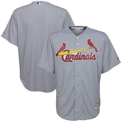 マジェスティック アメリカ USA メジャー リーグ 全米 野球 MLB Majestic St. Louis Cardinals ユース グレー Road Official Cool Base ジャージ