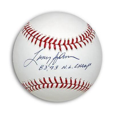 野球 MLB アメリカン ベースボール ウェア ユニフォーム ローリングス Larry Andersen Autographed Baseball Inscribed