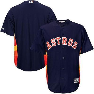 【お買い得!】 マジェスティック ベースボール MLB 野球 アメリカ USA 全米 Majestic Houston Astros ユース ネイビー Offical Cool Base Jersey, 創業1899年 栗きんとんの美濃屋 2160f2b2