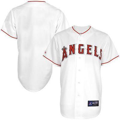 マジェスティック ベースボール MLB 野球 アメリカ USA 全米 ロサンゼルス エンジェルズ of Anaheim ユース ホワイト Home Replica Baseball Jersey