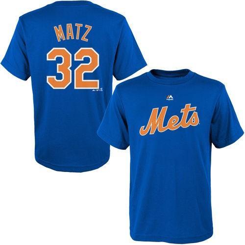 マジェスティック ベースボール MLB 野球 アメリカ USA 全米 Majestic Steven Matz New York Mets ユース Royal Player Name Number Tシャツ