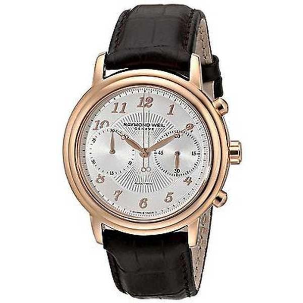 最前線の 腕時計 レイモンドウイル 4830-PC5-05658 Raymond Weil メンズ レザー 4830-PC5-05658 'Maestro' 'Maestro' クロノグラフ オートマチック レザー 腕時計, HAPPY BIRTH:feaede7d --- airmodconsu.dominiotemporario.com