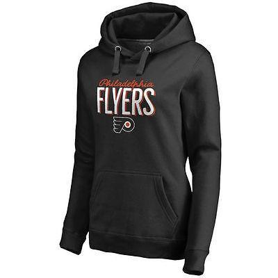 ふるさと納税 ファナティックス アイスホッケー NHL アメリカ USA 全米 ナショナルリーグ Philadelphia Flyers レディース ブラック Nostalgia プルオーバーパーカー, 北尾化粧品部 0fe1759f