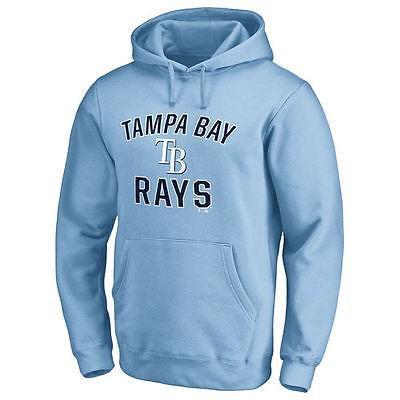 ファナティックス ブランディッド ベースボール MLB 野球 アメリカ USA 全米 Tampa Bay Rays ライト ブルー Victory Arch プルオーバーパーカー