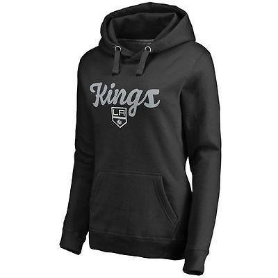 優先配送 ファナティックス アイスホッケー NHL アメリカ USA 全米 ナショナルリーグ ロサンゼルス Kings レディース ブラック フリー Hand プルオーバーパーカー, スマートギフト f8fc7fe1