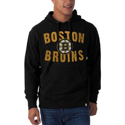 珍しい ホッケー NHL カナダ アメリカ Pullover 北米 USA メジャー 北米 フォーティセブン Striker '47 Brand Boston Bruins Black Striker Pullover Hoodie, 神川町:4ce9d5bd --- airmodconsu.dominiotemporario.com