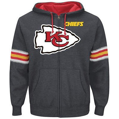 正式的 フットボール NFL アメリカ USA 全米 メジャー マジェスティック Majestic Kansas City Chiefs Charcoal Intimidating VI Full Zip Hoodie, コンプリート 82a30150