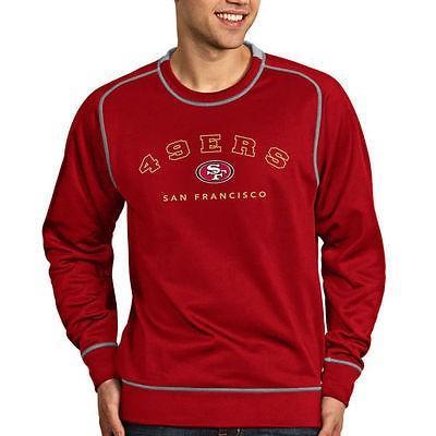 日本製 フットボール NFL アメリカ USA 全米 メジャー アンティグア Antigua San Francisco 49ers Scarlet Volt Crew Sweatshirt, 砂利エクステリアGreenArts 484f229b