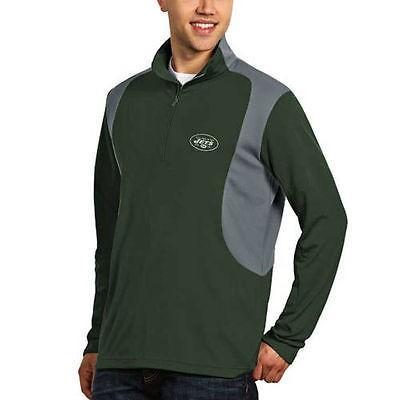 【福袋セール】 フットボール NFL アメリカ USA 全米 メジャー アンティグア Antigua New York Jets Green Delta Quarter Zip Pullover Jacket, 東大阪市 25419e15