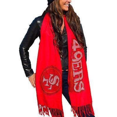 フットボール NFL アメリカ USA 全米 メジャー キュース San Francisco 49ers Women's Scarlet Team Scarf