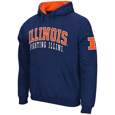カレッジ NCAA 大学 アメリカ スポーツ USA コロシアム Stadium Athletic Illinois Fighting Illini Navy Double Arches Pullover Hoodie