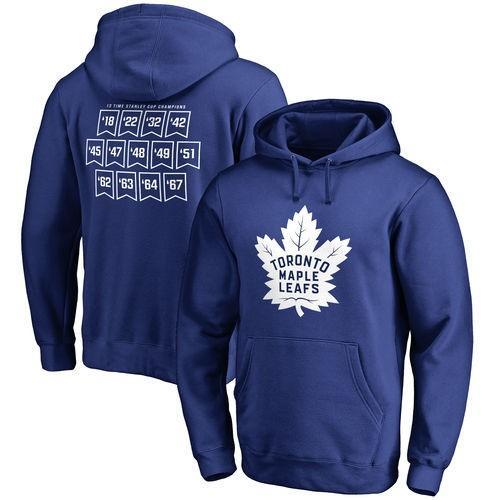 ホッケー NHL カナダ アメリカ 北米 USA メジャー ファナティックス ブランデッド Toronto Maple Leafs Royal Raise the Banner Pullover Hoodie