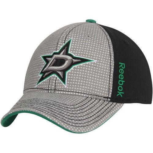 ホッケー NHL カナダ アメリカ 北米 USA メジャー リーボック Reebok Dallas Stars Gray 黒 Center Ice Travel Training Two Tone Flex Hat