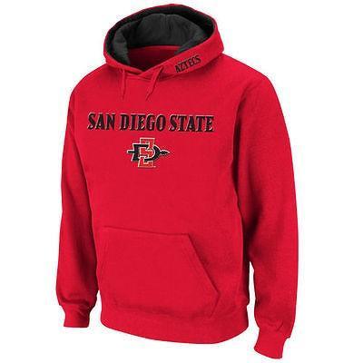 カレッジ - NCAA Stadium アスレチック San Diego State Aztecs Cardinal Arch & Logo プルオーバーパーカー