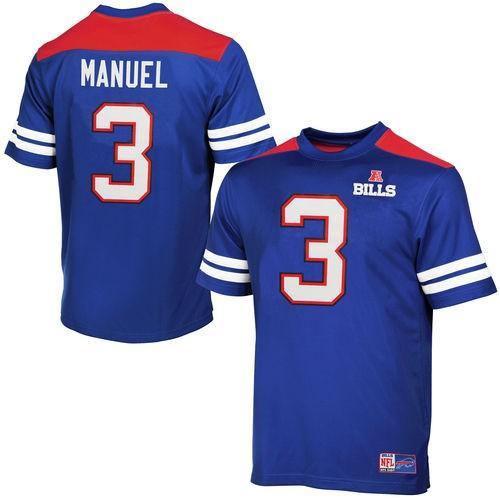 スポーツ ファン ウェア レプリカ ユニフォーム 応援 フットボール NFL マジェスティック Majestic EJ Manuel Buffalo Bills Royal 青 Hashmark II T Shirt