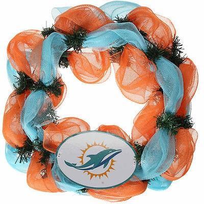 フットボール メジャー USA 全米 アメリカ NFL ザ メモリーカンパニー Miami Dolphins mesh Wreath