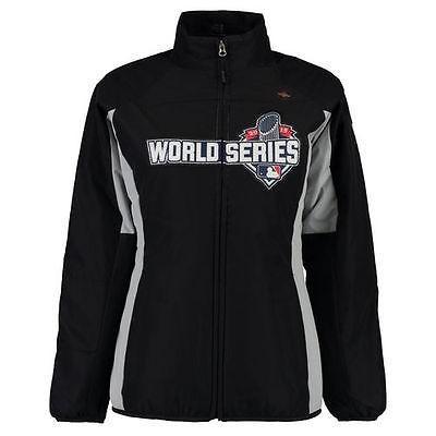 【2018最新作】 ベースボール USA 全米 アメリカ メジャー 野球 MLB マジェスティック Majestic MLB レディース ブラック 2015 World シリーズ ダブル Climate ジャケット, アクリBOX 588fb2ad