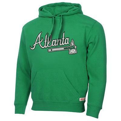野球 ベースボール メジャーリーグ MLBStitches Atlanta Braves St. Patrick-s Day Pullover Hoodie - Kelly 緑
