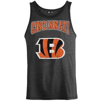 フットボール NFL USA アメリカ Cincinnati Bengals ブラック Tri Blend ビンテージ タンクトップ