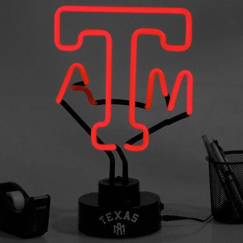 【送料無料/即納】  カレッジ NCAA USA アメリカ Texas A&M Aggies チーム ロゴ ネオン ライト -, 宍粟郡 748238e6